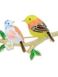 baratos -Broches - Pássaro Básico, Fashion Broche Dourado Para Diário / Encontro
