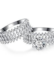 preiswerte -Blume Bandring - 1 Kreisform Retro / Elegant Silber Ring Für Hochzeit / Verlobung / Zeremonie