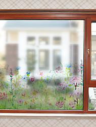 Недорогие -Оконная пленка и наклейки Украшение С цветами Современный Цветы ПВХ Стикер на окна Матовая