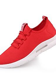 abordables -Homme Chaussures Filet / Tulle Eté Confort / Semelles Légères Basket Course à Pied / Tennis / Marche Blanc / Noir / Rouge