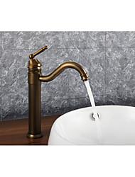 abordables -Robinet lavabo - Séparé Rotatif Laiton Antique Montage Mitigeur un trou