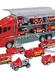 cheap -Toy Car Truck Construction Truck Set Fire Engine Vehicle Toy Music Vehicles Glow Plastic Shell Kid's Gift 7pcs