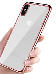 economico -Custodia Per Apple iPhone X iPhone 8 Placcato Ultra sottile corpo trasparente Per retro Tinta unita Morbido TPU per iPhone X iPhone 8