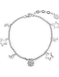 abordables -Femme S925 argent sterling Etoile 1pc Chaînes & Bracelets - Mode Argent Bracelet Pour Cadeau Quotidien