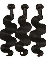 baratos -3 pacotes Cabelo Brasileiro Ondulado Cabelo Humano Extensões de Cabelo Natural Côr Natural Tramas de cabelo humano extensão / Venda imperdível Extensões de cabelo humano Todos