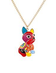 Недорогие -Муж. Собаки Ожерелья с подвесками  -  металлический Классика Мультяшная тематика Цвет радуги 65cm Ожерелье Назначение Подарок Для