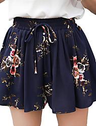 abordables -Mujer Activo Corte Ancho Chinos Pantalones - Floral