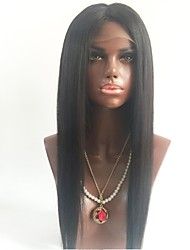 cheap -Unprocessed Human Hair Full Lace Wig Brazilian Hair Straight Wig Middle Part 130% With Baby Hair / Natural Hairline Black Women's Short / Long / Mid Length Human Hair Lace Wig
