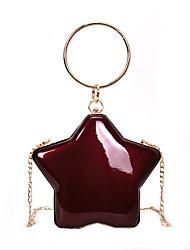 povoljno -Žene Torbe PU Večernja torbica Patent-zatvarač za Kauzalni Sva doba Plava Crn Pink Lila-roza