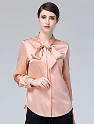 Недорогие -Жен. Рубашка Деловые Классический Однотонный