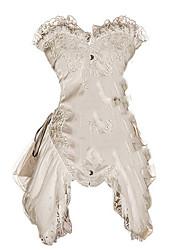 economico -Cosplay Steampunk Costume Per donna Vestiti Bianco Rosso Vintage Cosplay Poliestere Senza maniche