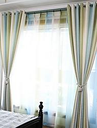 abordables -Rideaux Tentures Salle de séjour Rayure Coton / Polyester Imprimé
