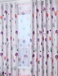 abordables -Blackout cortinas cortinas Dormitorio Un Color Algodón / Poliéster Impreso