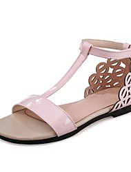 cheap -Women's Shoes Leatherette Summer Comfort / Gladiator Sandals Flat Heel Open Toe Silver / Pink / Champagne