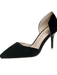 preiswerte -Damen Schuhe PU Sommer Komfort High Heels Stöckelabsatz Spitze Zehe Schleife für Normal Schwarz Gelb Rot