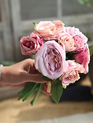 baratos -Flores artificiais 9 Ramo Casamento / Pastoril Estilo Rosas Flor de Mesa