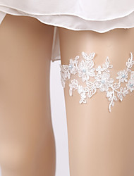 cheap -Lace Sweet Traditional / Classic Wedding Garter 617 Faux Pearl Lace Garters Wedding Special Occasion