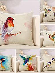 abordables -6 pcs Coton / Lin Housse de coussin / Nouveaux Oreillers / Taie d'oreiller, 3D / Nouveauté / Peinture à l'Huile Style artistique