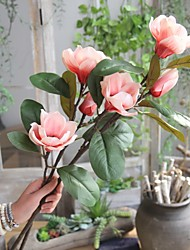baratos -Flores artificiais 1 Ramo Rústico / Europeu Orquideas Flor de Chão