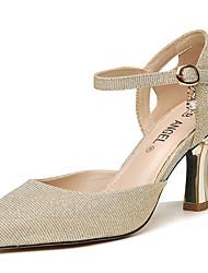 preiswerte -Damen Schuhe Glitzer Sommer Herbst Pumps Gladiator High Heels Blockabsatz für Normal Party & Festivität Gold Silber