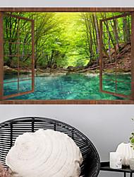 Недорогие -Наклейка на стену Декоративные наклейки на стены - Простые наклейки 3D Цветочные мотивы / ботанический Положение регулируется Съемная