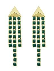 Недорогие -Серьги-слезки - Дамы, Мода Бижутерия Зеленый Назначение Подарок Свидание