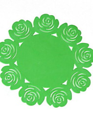 cheap -Contemporary Plastic Round Placemat Solid Colored Floral Table Decorations