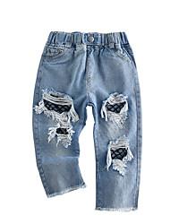 economico -Bambino Da ragazza Tinta unita Pantaloni