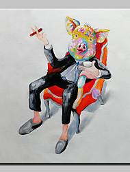 abordables -Peinture à l'huile Hang-peint Peint à la main - Pop Art Moderne Toile