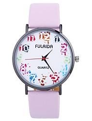 baratos -Mulheres Relógio de Moda Chinês Mostrador Grande PU Banda Fashion / Minimalista Preta / Branco / Azul / Um ano