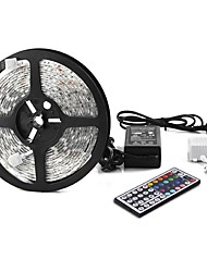 economico -1x5M Strisce luminose RGB 300 LED 1 telecomando da 44Keys / 1 adattatore di alimentazione X 5A Colori primari Accorciabile / Decorativo / Collagabile 12 V 1set
