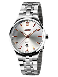 cheap -SKMEI Men's Quartz Dress Watch Calendar / date / day Water Resistant / Water Proof Casual Watch Noctilucent Stainless Steel Band