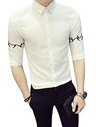 cheap -Men's Business Basic Shirt - Floral