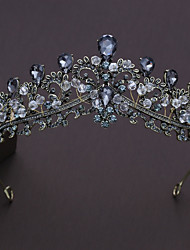 cheap -Alloy Tiaras with Rhinestone Crystal 1pc Wedding Special Occasion Headpiece