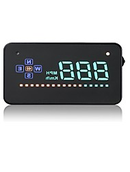 cheap -A2 5.6 inch LED Wired Head Up Display LED indicator Multi-functional display LCD Screen Plug and play for Truck Bus Car Display KM/h MPH
