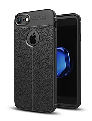cheap -Case For Apple iPhone X iPhone 8 Embossed Back Cover Solid Colored Soft TPU for iPhone X iPhone 8 Plus iPhone 8 iPhone 7 Plus iPhone 7