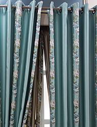 preiswerte -Gardinen Shades Wohnzimmer Blumen Baumwolle / Polyester Stickerei
