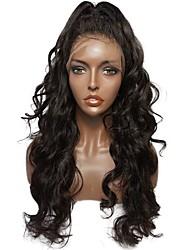 abordables -Non Traités Cheveux humains Perruque Cheveux Brésiliens Ondulé Partie latérale Séparation profonde Partie médiane 130% Densité Avec des
