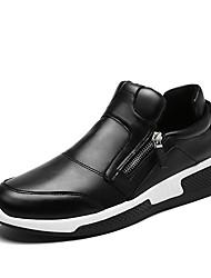 お買い得  -男性用 靴 レザーレット 春 夏 コンフォートシューズ スニーカー ウォーキング のために カジュアル オフィス&キャリア ブラック ブラックとホワイト ダックレッド