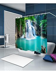 abordables -Rideaux de douche et anneaux Décontracté Rustique Polyester Nouveauté Fabrication à la machine Imperméable Salle de Bain