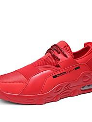 お買い得  -男性用 靴 チュール ネット 夏 ライト付きソール コンフォートシューズ スニーカー ウォーキング テニス ハイキング ランニング のために カジュアル アウトドア ブラック レッド ブラックとホワイト