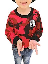 abordables -Enfants Garçon Couleur Pleine Manches Longues Pull à capuche & Sweatshirt