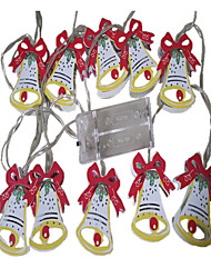 preiswerte -1,5 m Leuchtgirlanden 10 LEDs 1.5M String Licht Warmes Weiß Dekorativ AA-Batterien angetrieben 1pc