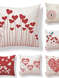cheap -6 pcs Textile Cotton / Linen Pillow case, Special Design Printing Cartoon Artistic Style Lovely