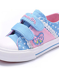 preiswerte -Mädchen Schuhe Leinwand Frühling Komfort Sneakers für Dunkelblau / Rosa / Hellblau