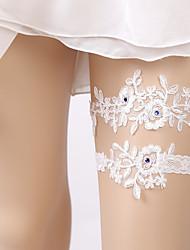 baratos -Renda Original / Casamento Wedding Garter Com Pedrarias / Renda Ligas / Decoração de Casamento Original Casamento / Ocasião Especial