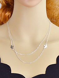 cheap -Layered Necklace - Bird Silver 51 cm Necklace For Party / Evening, School