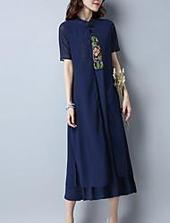 povoljno -Žene Kinezerije Swing kroj Haljina Jednobojni Midi