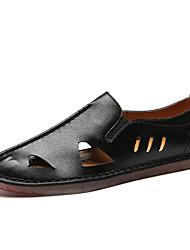 abordables -Homme Chaussures Similicuir Printemps Eté Confort Mocassins et Chaussons+D6148 Motif Animal pour Décontracté Blanc Noir Gris