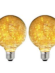 Недорогие -BRELONG® 2pcs 3W 300lm E26 / E27 Круглые LED лампы 47 Светодиодные бусины SMD звездный Декоративная Тёплый белый 220-240V